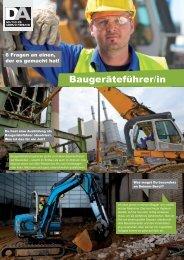 Baugeräteführer/in - Deutscher Abbruchverband eV