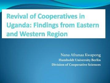 Nana Afranaa Kwapong - Uganda Strategy Support Program Notes