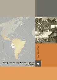 Institutional Development - Grupo de Análisis para el Desarrollo ...