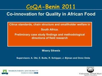 Titel-slide (44 pt groene tekst op groene lijn; 2e regel eronder) - CoQA