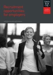 Recruitment opportunities for employers - Swinburne University of ...