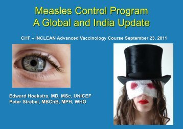 Measles Control Program A Global and India ... - The INCLEN Trust