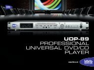 UDP-89 PROFESSIONAL UNIVERSAL DVD/CD PLAYER - Radikal