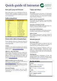 Quick-guide til Intrastat - Danmarks Statistik
