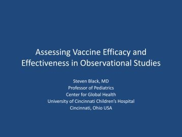 Assessing Vaccine Efficacy and Effectiveness in ... - The INCLEN Trust