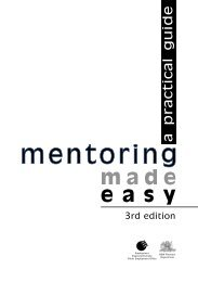 Mentoring Made Easy a practical Guide 3rd Edition - NSW ...