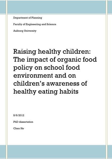Raising Healthy Children The Impact Of Organic Food Policy Menu