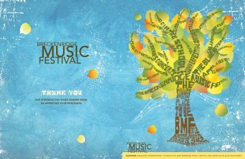 to view the BMF 2012 Summer - Breckenridge Music Festival