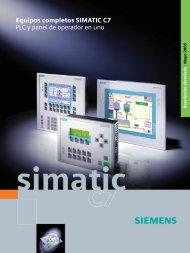 Equipos completos SIMATIC C7 - PLC y panel de operador en uno