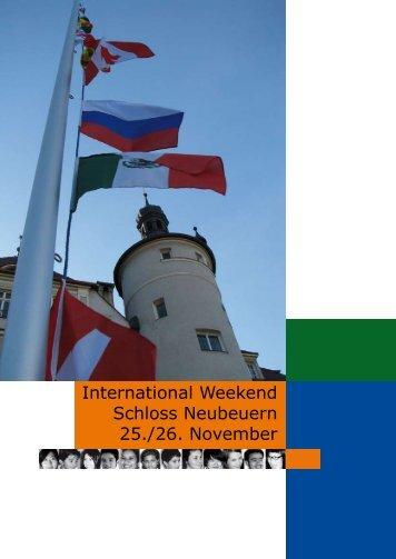 International Weekend 2006 - Schloss Neubeuern