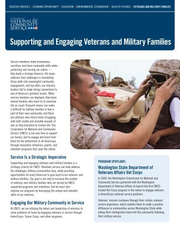 Supporting and Engaging Veterans and Military Families - National ...