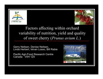 Factors affecting within orchard variability of ... - IPNC Home Page