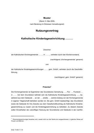 Nutzungsvertrag Vorderhaus Brakula