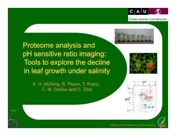Proteome analysis and pH sensitive ratio ... - IPNC Home Page