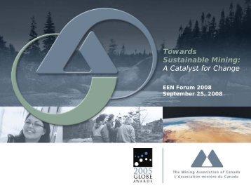 Towards Sustainable Mining - Environmental Evaluators Network