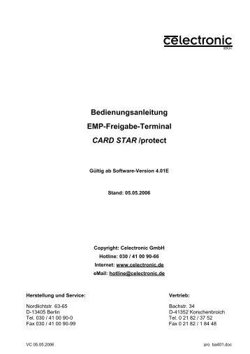 Bedienungsanleitung EMP-Freigabe-Terminal CARD STAR /protect