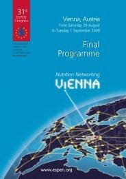 Download Final Programme - espen