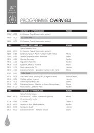 Programme Overview - European Society for Clinical Nutrition and ...