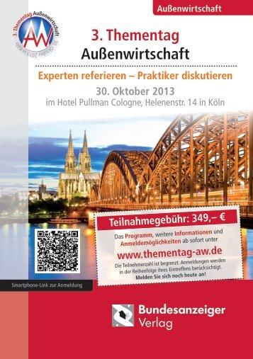 3. Thementag Außenwirtschaft - Bundesanzeiger Verlag