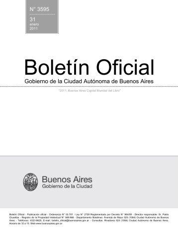 N° 3595 del 31/01/2011 - Boletín Oficial del Gobierno de la Ciudad ...