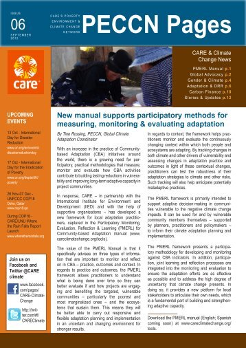 PECCN Pages newsletter - CARE Climate Change