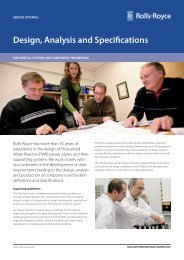 Design, Analysis and Specifications - Rolls-Royce
