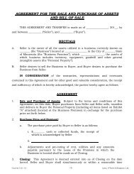 Purchase Agreement and Bill of Sale - Minnesota State Bar ...