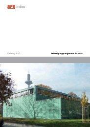 Befestigungsprogramm für Glas Katalog 2012