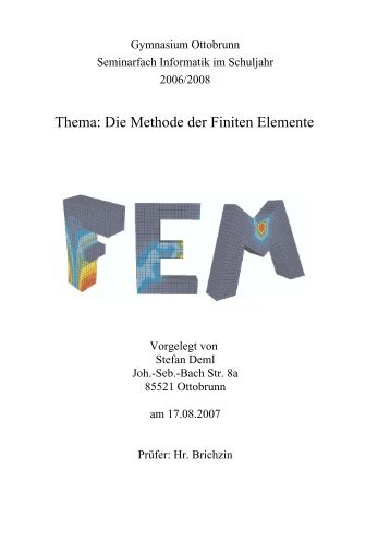 Methode der Finiten Elemente - Brichzin