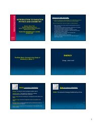 Handouts - Radiation Epidemiology Course - National Cancer Institute