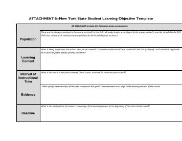 Student learning objective slo template omea for Ohio slo template