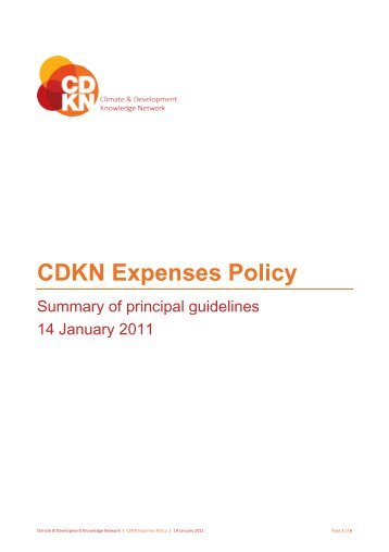 CDKN Expenses Policy