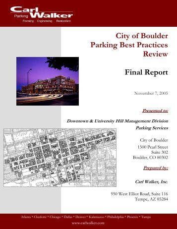 City of Boulder Parking Best Practices Review ... - Downtown Boulder