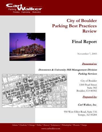 City of Boulder Parking Best Practices Review ... - Downtown Boulder