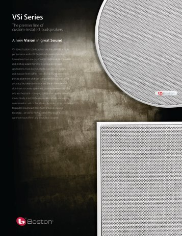 VSi Series In-Wall Subwoofer