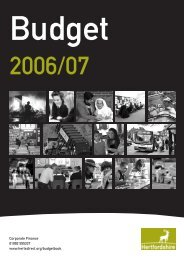 Children, Schools & Families - Hertfordshire County Council