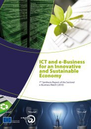 ICT and e-Business for an Innovative and Sustainable ... - empirica