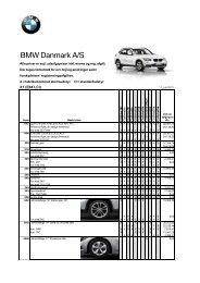 Prisliste BMW X1 ekstraudstyr (pdf) - BMW Danmark