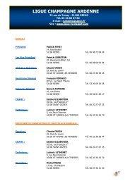 ANNUAIRE GENERAL - 19 juillet 2013 - Ligue Champagne ...