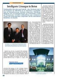 Intelligente Lösungen in Beton - Bremer AG
