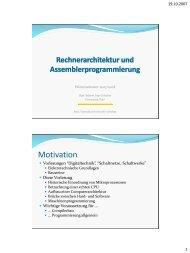 Download der Folien zur ersten Vorlesung - Universität Trier