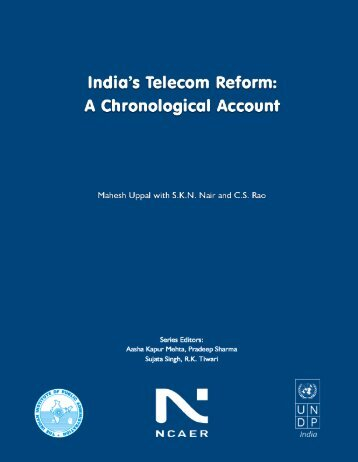 India's Telecom Reform - Indian Institute of Public Administration