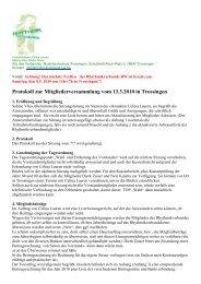 Protokoll der MGV März 2010