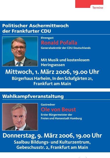 Nr. 1 März 2006 - CDU-Kreisverband Frankfurt am Main