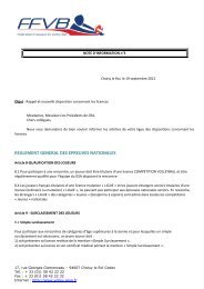 Note d'information 3 - Licences - Extranet FFVB