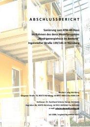 Abschlussbericht Ingolstädterstr. 139-141 - Schulze Darup & Partner