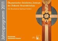 Jahresprogramm 2011 - Diakonie Neuendettelsau