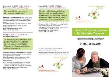 Leben mit dem Vergessen Unutkanlıkla Yaşamak 31.01.–06.02.2011