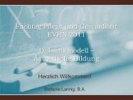 Fachtag Pflege und Gesundheit EVHN 2011 Didaktikmodell ...
