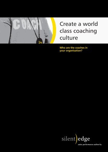 Create a world class coaching culture - Silent Edge